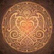 Heart Of Wisdom Mandala Print by Cristina McAllister
