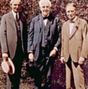 Henry Ford, Thomas Alva Edison, Harvey Print by Everett