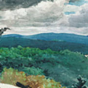 Hilly Landscape Print by Winslow Homer