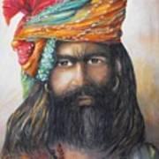 Hindu Holy Man Print by Debra  Bannister