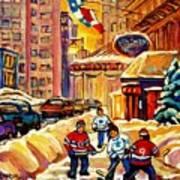 Hockey Fever Hits Montreal Bigtime Print by Carole Spandau