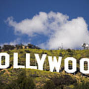 Hollywood Sign Print by Anthony Citro