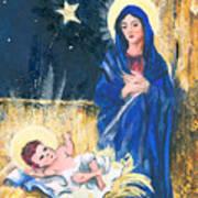 Holy Christmas No. 2 Print by Elisabeta Hermann