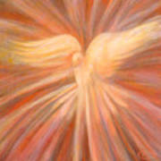 Holy Spirit Appearing As A Dove Print by Kip Decker