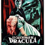 Horror Of Dracula Aka Le Cauchemar De Print by Everett