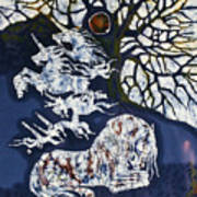 Horse Dreaming Below Trees Print by Carol  Law Conklin