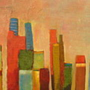 Hot Manhattan Print by Habib Ayat