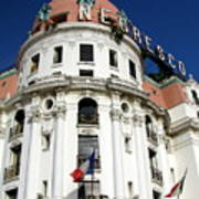 Hotel Negresco In Nice Print by Carla Parris