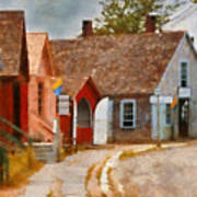 Houses - Maritime Village  Print by Mike Savad