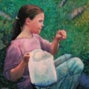 Huckleberry Picker Print by Robert Bissett