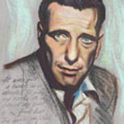 Humphrey Bogart  Not A Chess Piece Was Out Of Place Print by Kean Butterfield