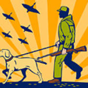 Hunting Gun Dog Print by Aloysius Patrimonio