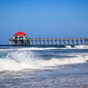 Huntington Beach Pier Photo Print by Paul Velgos