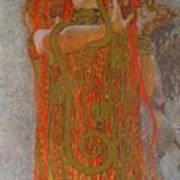 Hygieia Print by Gustav Klimt