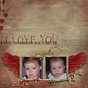 I Love You Print by Joanne Kocwin
