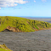 Iceland Landscape Near Vik Print by Sergio Boccardo
