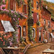 Il Bar Sulla Discesa Print by Guido Borelli
