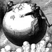 Imperialism Cartoon, 1876 Print by Granger