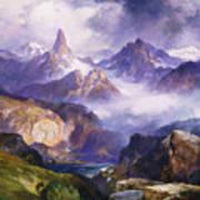 Index Peak Yellowstone National Park Print by Thomas Moran