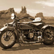 Indian 4 Sidecar Print by Mike McGlothlen