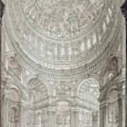 Interior Of Saint Pauls Cathedral Print by John Coney