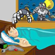 Invading Alien Robot Print by Aloysius Patrimonio