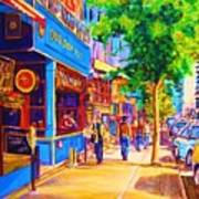 Irish Pub On Crescent Street Print by Carole Spandau