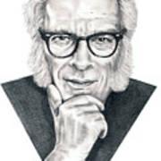 Isaac Asimov Print by Murphy Elliott