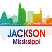 Jackson Ms Print by Angelina Vick