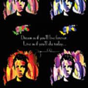 James Dean Print by Mo T