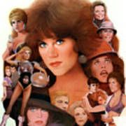 Jane Fonda Tribute Print by Bill Mather