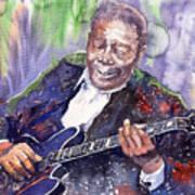 Jazz B B King 06 Print by Yuriy  Shevchuk