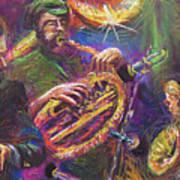 Jazz Jazzband Trio Print by Yuriy  Shevchuk