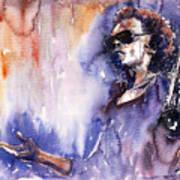 Jazz Miles Davis 14 Print by Yuriy  Shevchuk