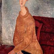 Jeanne Hebuterne In A Yellow Jumper Print by Amedeo Modigliani