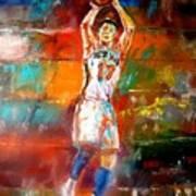 Jeremy Lin New York Knicks Print by Leland Castro