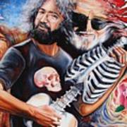 Jerry Garcia And The Grateful Dead Print by Darwin Leon