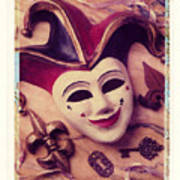 Jester Mask Print by Garry Gay