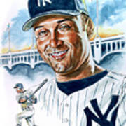 Jeter Print by Tom Hedderich