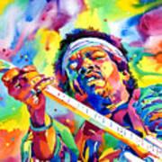 Jimi Hendrix Electric Print by David Lloyd Glover