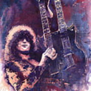 Jimmy Page  Print by Yuriy  Shevchuk