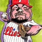 Joe Blanton -phillies Print by Robert  Myers
