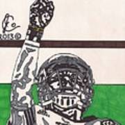 Johnny Manziel 7 Print by Jeremiah Colley