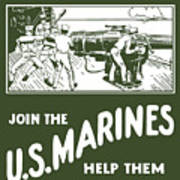 Join The Us Marines Print by War Is Hell Store