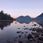 Jordan Pond Reflections - Acadia Print by Stephen  Vecchiotti