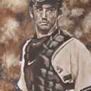 Jorge Posada New York Yankees Print by Eric Dee