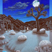 Joshua Tree At Night Print by Snake Jagger