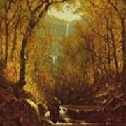 Kaaterskill Falls Print by Sanford Robinson Gifford