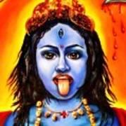 Kali  -hindu Goddess Print by Carmen Cordova