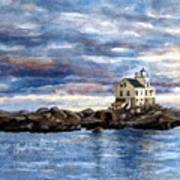 Katland Lighthouse Print by Janet King
